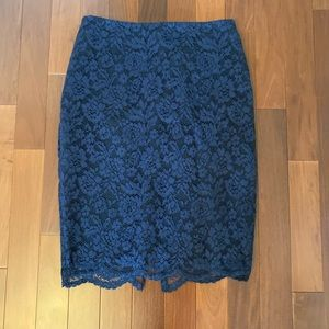 Vince Camuto floral lace skirt